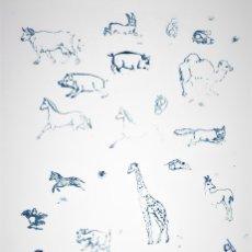 Juegos educativos: ANTIGUOS TAMPONES DE ANIMALES DE PRINCIPIOS DEL S.XX. Lote 176929313