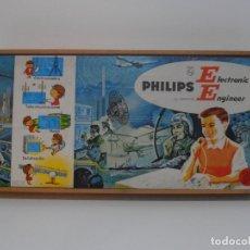 Juegos educativos: JUEGO ELECTRONICA, PHILIPS ELECTRONIC ENGINEER, CAJA MADERA MODELO GRANDE, AÑOS 60-70. Lote 176998247