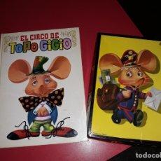 Juegos educativos: LOTE DE EL ENTRAÑABLE TOPO GIGIO ROMPECABEZAS CON 5 LAMINAS DE 1967 Y LIBRO 1965. Lote 177094427