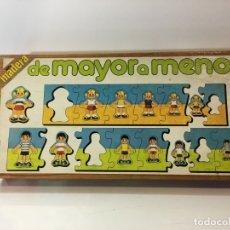 Juegos educativos: JUEGO DE MESA PUZZLE DE MAYOR A MENOR 80 EDUCA ,JUGUETE ANTIGUO,FEBER,MB,EDUCATIVO,PEDAGOGICO,. Lote 179341108
