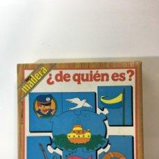 Juegos educativos: JUEGO DE MESA PUZZLE DE MADERA ¿DE QUIEN ES? 79 EDUCA,JUGUETE ANTIGUO,FEBER,MB,EDUCATIVO,PEDAGOGICO,. Lote 179341143