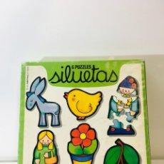 Juegos educativos: JUEGO DE MESA PUZZLE SILUETAS 79 EDUCA,JUGUETE ANTIGUO,FEBER,MB,EDUCATIVO,PEDAGOGICO,. Lote 179341200