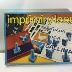 Juegos educativos: JUEGO DE MESA IMPRIMIR Y LEER 81 EDUCA,JUGUETE ANTIGUO,FEBER,MB,EDUCATIVO,PEDAGOGICO. Lote 179556617