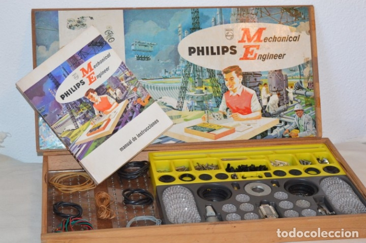 Juegos educativos: Años 60 - PHILIPS Mechanical Engineer ME 1200 - JUEGO EDUCATIVO - VINTAGE - ¡Mira fotos/detalles! - Foto 1 - 179958607