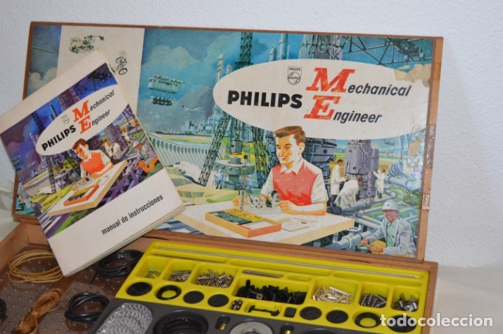 Juegos educativos: Años 60 - PHILIPS Mechanical Engineer ME 1200 - JUEGO EDUCATIVO - VINTAGE - ¡Mira fotos/detalles! - Foto 3 - 179958607