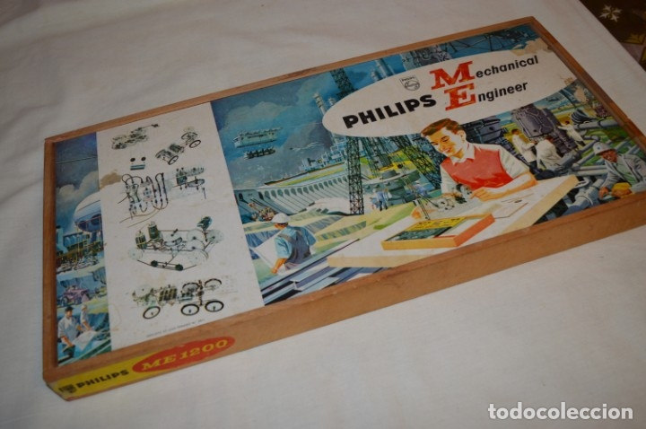 Juegos educativos: Años 60 - PHILIPS Mechanical Engineer ME 1200 - JUEGO EDUCATIVO - VINTAGE - ¡Mira fotos/detalles! - Foto 15 - 179958607