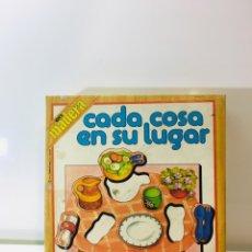 Juegos educativos: JUEGO DE MESA CADA COSA EN SU LUGAR EDUCA 82 ,JUGUETE ANTIGUO,FEBER,MB,EDUCATIVO,PEDAGOGICO,CEFA,. Lote 197214868