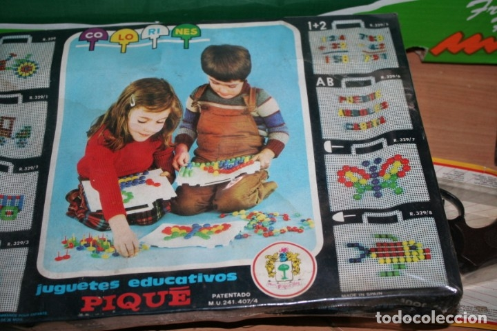 Juegos educativos: antiguo juego sin abrir juego colorines pique - Foto 3 - 180839807