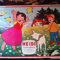 Juegos educativos: HEIDI, JUEGO EDUCATIVO ROMPECABEZAS ORIGINAL AÑO 1975 CON 6 DISEÑOS, ZUIYO ENTERPRISE. Lote 181128347