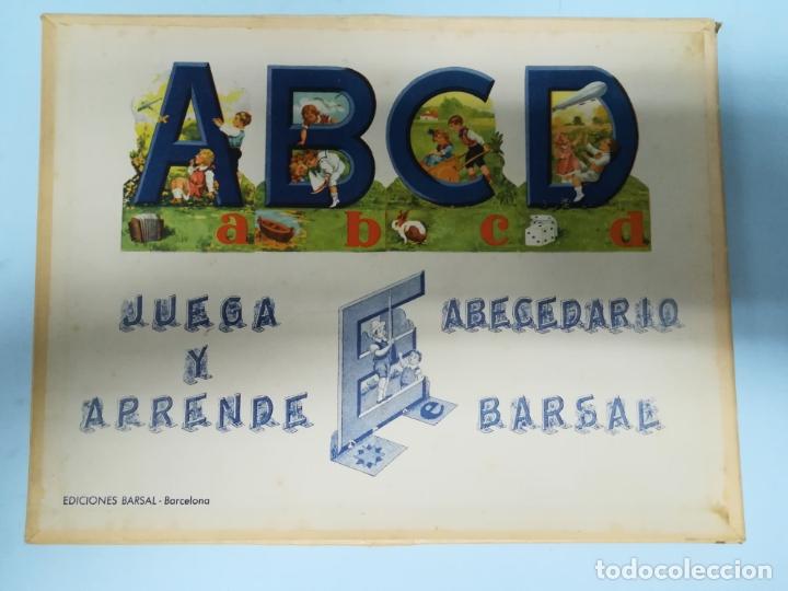 ANTIGUO JUEGO ABECEDEDARIO BARSAL AÑOS 40 SIN USAR #AA (Juguetes - Juegos - Educativos)