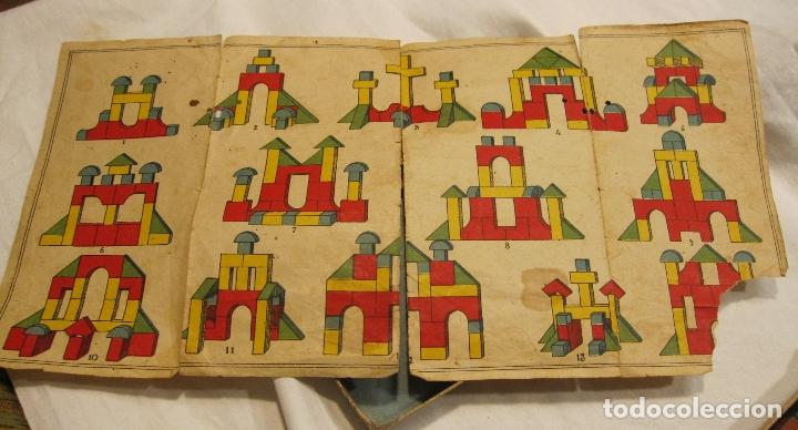 Juegos educativos: ANTIGUO JUEGO DE CONSTRUCCIÓN. LE PETIT ARCHITECTE. MADERA PINTADA. CAJA 2 X 19 X 10 CM - Foto 4 - 182304618
