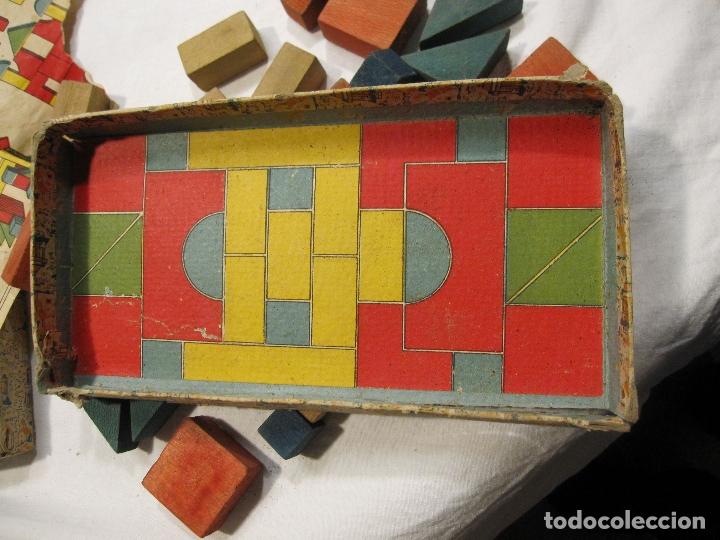 Juegos educativos: ANTIGUO JUEGO DE CONSTRUCCIÓN. LE PETIT ARCHITECTE. MADERA PINTADA. CAJA 2 X 19 X 10 CM - Foto 6 - 182304618