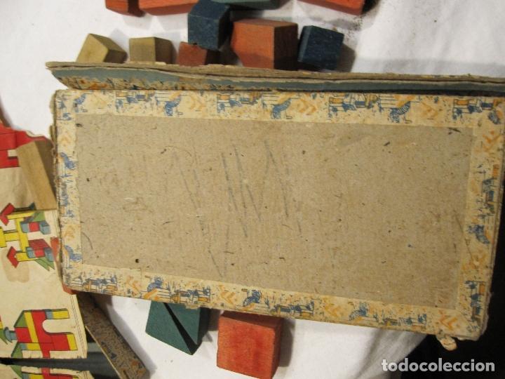 Juegos educativos: ANTIGUO JUEGO DE CONSTRUCCIÓN. LE PETIT ARCHITECTE. MADERA PINTADA. CAJA 2 X 19 X 10 CM - Foto 7 - 182304618