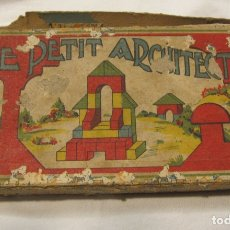 Juegos educativos: ANTIGUO JUEGO DE CONSTRUCCIÓN. LE PETIT ARCHITECTE. MADERA PINTADA. CAJA 2 X 19 X 10 CM. Lote 182304618