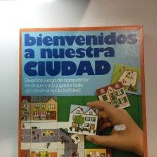 Juegos educativos: JUEGO DE MESA, BIENVENIDOS A NUESTRA CIUDAD EDUCA 81,JUGUETE ANTIGUO,FEBER,MB,CEFA,VINTAGE,EDUCATIVO. Lote 182446107