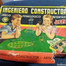 Juegos educativos: JUEGO PEDAGOCICO INGENIERO CONSTRUCTOR JEFE AÑOS 50. Lote 184320718