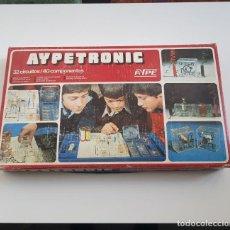 Juegos educativos: AYPETRONIC, JUEGO DE MONTAJES CIRCUITOS ELÉCTRICOS, AÑOS 70, DIFÍCIL DE ENCONTRAR,LEER DESCRIPCIÓN. Lote 184767411