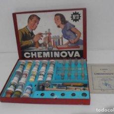 Jogos educativos: JUEGO CHEMINOVA NUM 3, PEQUEÑO LABORATORIO, MUY COMPLETO Y BUEN ESTADO, AÑOS 60. Lote 184796838