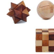 Juegos educativos: ROMPECABEZAS MENSA DE MADERA PUZZLES X 3 POCKET WOODEN HARDER EN CAJAS ORIGINALES NUEVOS SIN USO. Lote 186272870