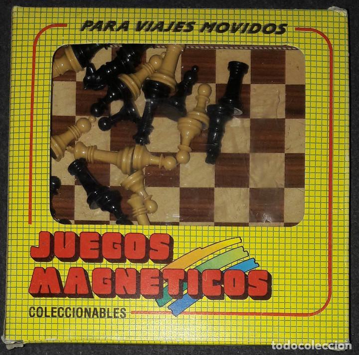 JUEGO MAGNETICO AJEDREZ COMPLETO JUGUETES MARIGO S.A COLECCIONABLES PARA VIAJES MOVIDOS (Juguetes - Juegos - Educativos)