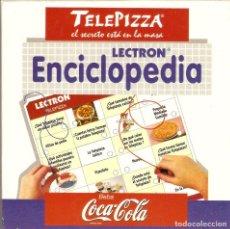 Juegos educativos: JUEGO LECTRON ENCICLOPEDIA - TELEPIZZA COCA-COLA - JUGUETES DISET - FUNCIONANDO !!!. Lote 192859045