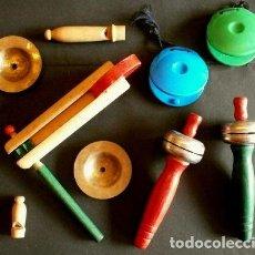 Juegos educativos: LOTE 10 INSTRUMENTOS PARA HACER MUSICA - CARRACA, TIMBRES, CASTAÑUELAS, PITOS, ARMÓNICA - PERCUSIÓN. Lote 192933680