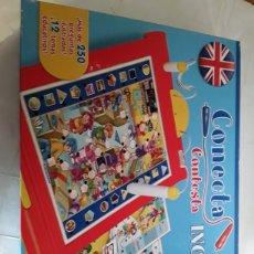 Juegos educativos: CONECTA CONTESTA INGLES DE CLEMENTONI. Lote 193793628