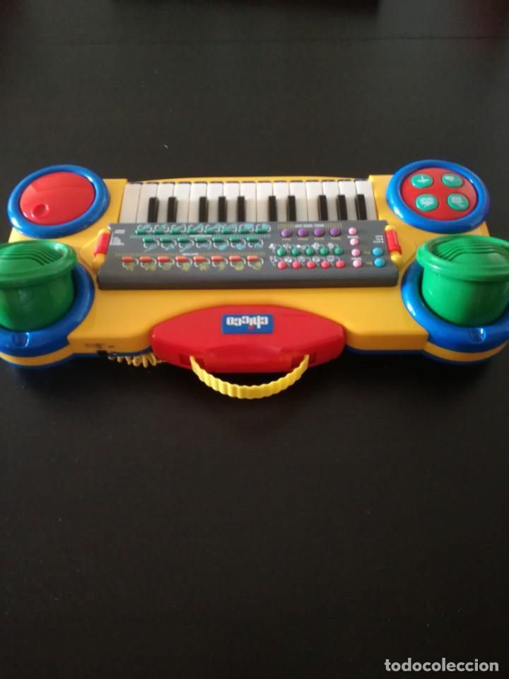 Juegos educativos: CHICCO DE COLECCIÓN PIANO PARA NIÑOS A PILAS TECLADO,MICRÓFONO, MÚSICA ACOMPAÑAMIENTO. MUY BIEN - Foto 2 - 193947302
