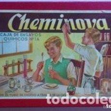 Juegos educativos: CHEMINOVA Nº 2 CAJA DE ENSAYOS QUIMICOS Nº 1A, JUGUETE AÑOS 50, MEDIDAS 27 X 18 CM. Lote 194193231