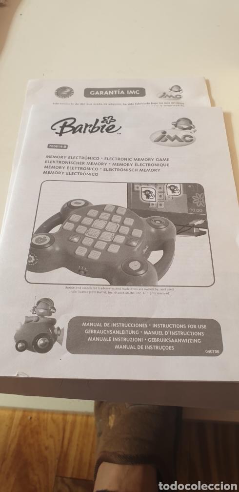 Juegos educativos: BARBIE JUEGO INTERACTIVO CON LA TV MEMORY ELECTRONIC EN SU CAJA SIN USAR - Foto 3 - 194195830
