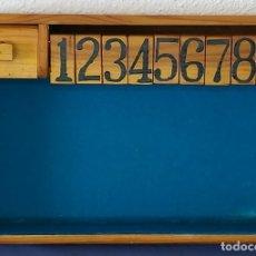 Juegos educativos: CIERRA LA CAJA (SHUT THE BOX) - JUEGO DE CÁLCULO CON DADOS - HECHO A MANO EN LOS AÑOS 80. Lote 194197302