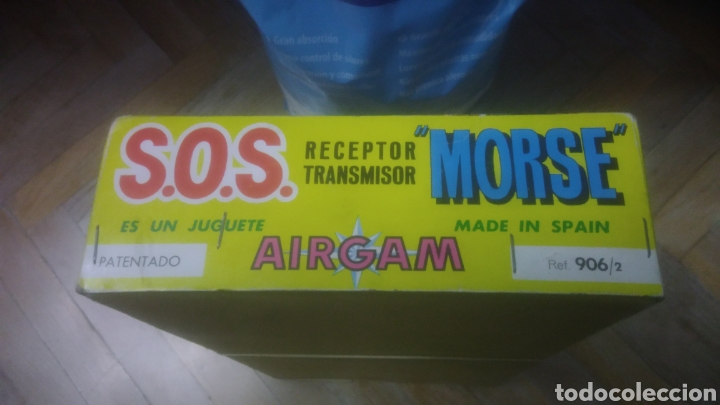 Juegos educativos: AIRGAM. SOS. RECEPTOR TRANSMISOR MORSE. CAJA MUY BIEN CONSERVADA. VER FOTOS. - Foto 6 - 194253363