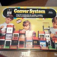 Juegos educativos: JUEGO DE CONSTRUCCIÓN CONVER SYSTEM KIT Nº 2 140 PIEZAS. Lote 194495958