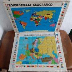 Juegos educativos: ROMPECABEZAS GEOGEAFICO BORRAS / 48 CUBOS / 46CM X 37CM. Lote 194564480