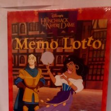 Juegos educativos: JUEGO MEMO LOTTO - EL JOROBADO DE NOTRE DAME - SCHMIDT ( MÁS 5 EUROS GASTOS DE ENVÍO) NUEVO. Lote 194619843