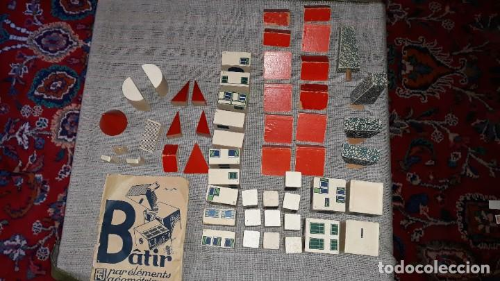 Juegos educativos: antiguo juego de arquitectura geometrica en madera años 50. batir par elements geometriques - Foto 2 - 194693818