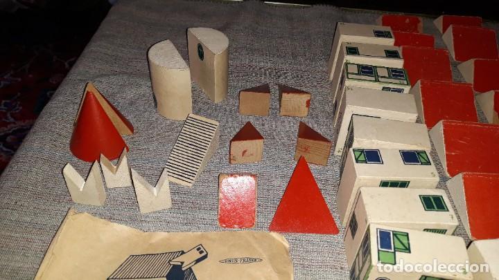 Juegos educativos: antiguo juego de arquitectura geometrica en madera años 50. batir par elements geometriques - Foto 3 - 194693818