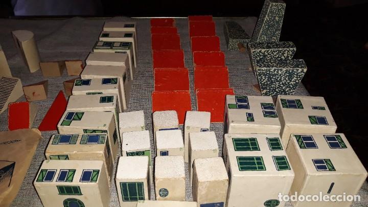 Juegos educativos: antiguo juego de arquitectura geometrica en madera años 50. batir par elements geometriques - Foto 5 - 194693818