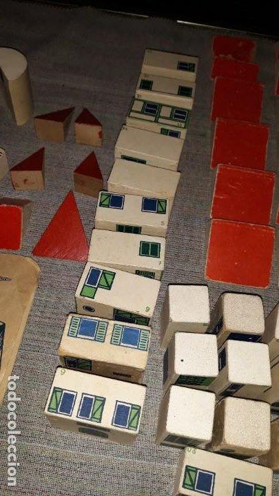 Juegos educativos: antiguo juego de arquitectura geometrica en madera años 50. batir par elements geometriques - Foto 8 - 194693818