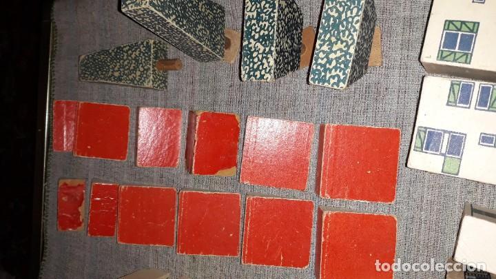Juegos educativos: antiguo juego de arquitectura geometrica en madera años 50. batir par elements geometriques - Foto 11 - 194693818