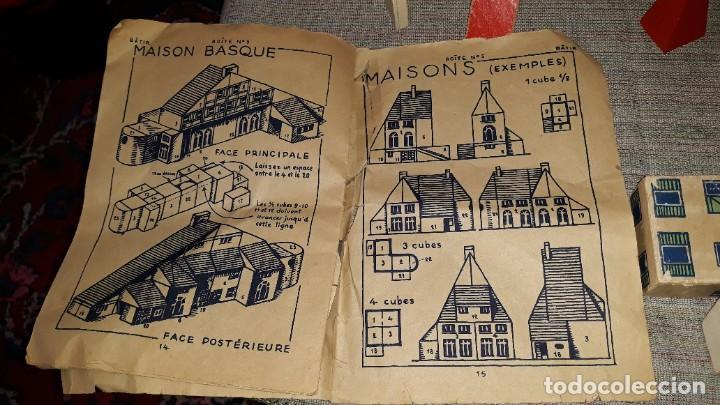 Juegos educativos: antiguo juego de arquitectura geometrica en madera años 50. batir par elements geometriques - Foto 15 - 194693818