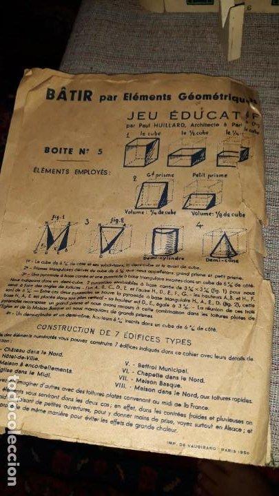 Juegos educativos: antiguo juego de arquitectura geometrica en madera años 50. batir par elements geometriques - Foto 16 - 194693818