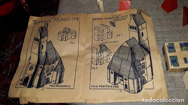 Juegos educativos: antiguo juego de arquitectura geometrica en madera años 50. batir par elements geometriques - Foto 17 - 194693818