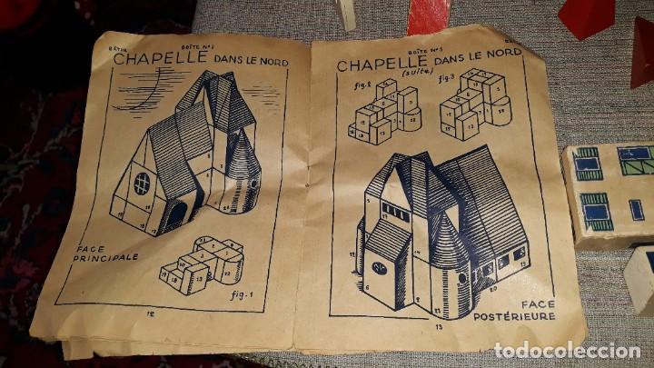 Juegos educativos: antiguo juego de arquitectura geometrica en madera años 50. batir par elements geometriques - Foto 18 - 194693818
