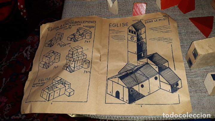 Juegos educativos: antiguo juego de arquitectura geometrica en madera años 50. batir par elements geometriques - Foto 19 - 194693818