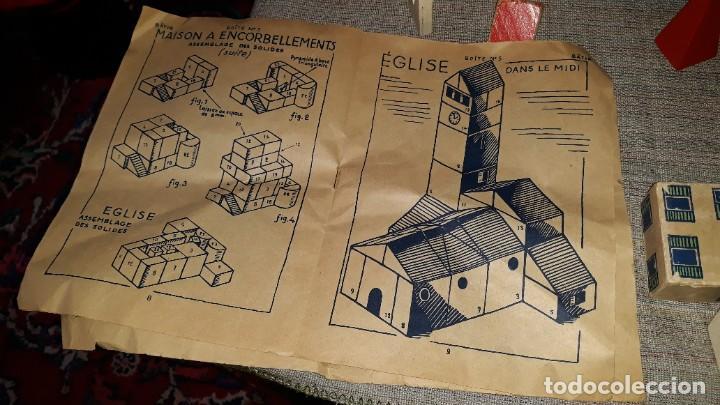 Juegos educativos: antiguo juego de arquitectura geometrica en madera años 50. batir par elements geometriques - Foto 20 - 194693818