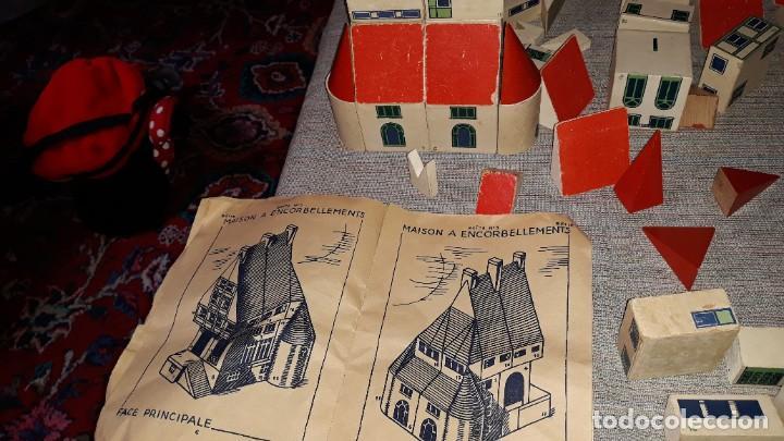 Juegos educativos: antiguo juego de arquitectura geometrica en madera años 50. batir par elements geometriques - Foto 22 - 194693818