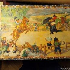 Juegos educativos: ROMPECABEZAS ANTIGUO DE CARTÓN, 35 PIEZAS, COMPLETO CON LAS 5 LÁMINAS ANTIGUAS.. Lote 194754607