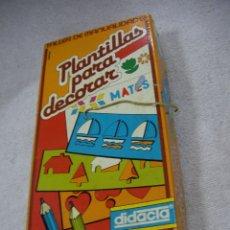 Juegos educativos: ANTIGUO JUEGO MANUALIDADES DE PLANTILLAS PARA DECORAR. Lote 195215998