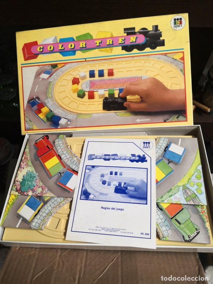 CURIOSO JUEGO DE MESA COLOR TREN DE DISET AÑO 1988 NUEVO EN SU CAJA (Juguetes - Juegos - Educativos)